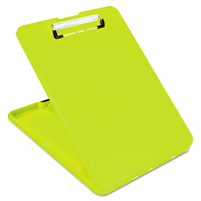 SlimMate Storage Clipboard, 1/2 in Clip Cap, 8 1/2 x 11 Sheets, Hi-Vis Yellow