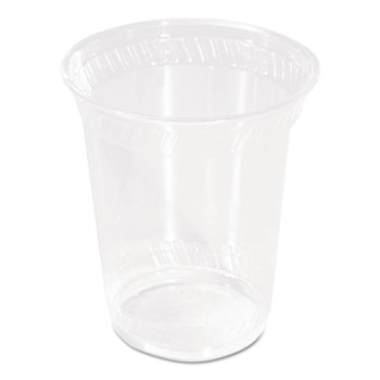 Compostable PLA Corn Plastic Cold Cups, 10oz, Clear, 1000/Carton