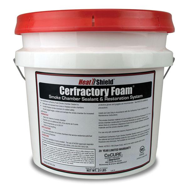 Heat Shield Cerfractory Foam Smoke Chamber Sealant, 25 lb. Bucket