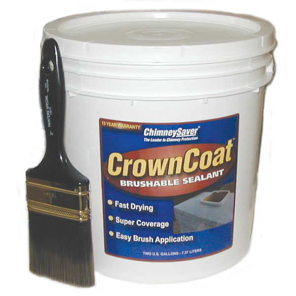 CrownCoat Brushable Water Sealant, Buff, 5-Gallon (covers 40 sq. ft. Per Gallon)