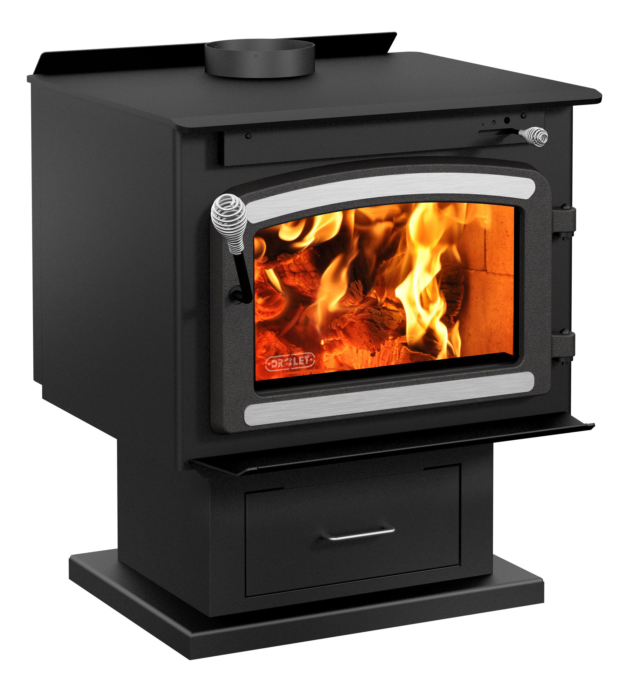 Drolet Classic Wood Stove with Blower - 75,000 BTU, EPA-Certified