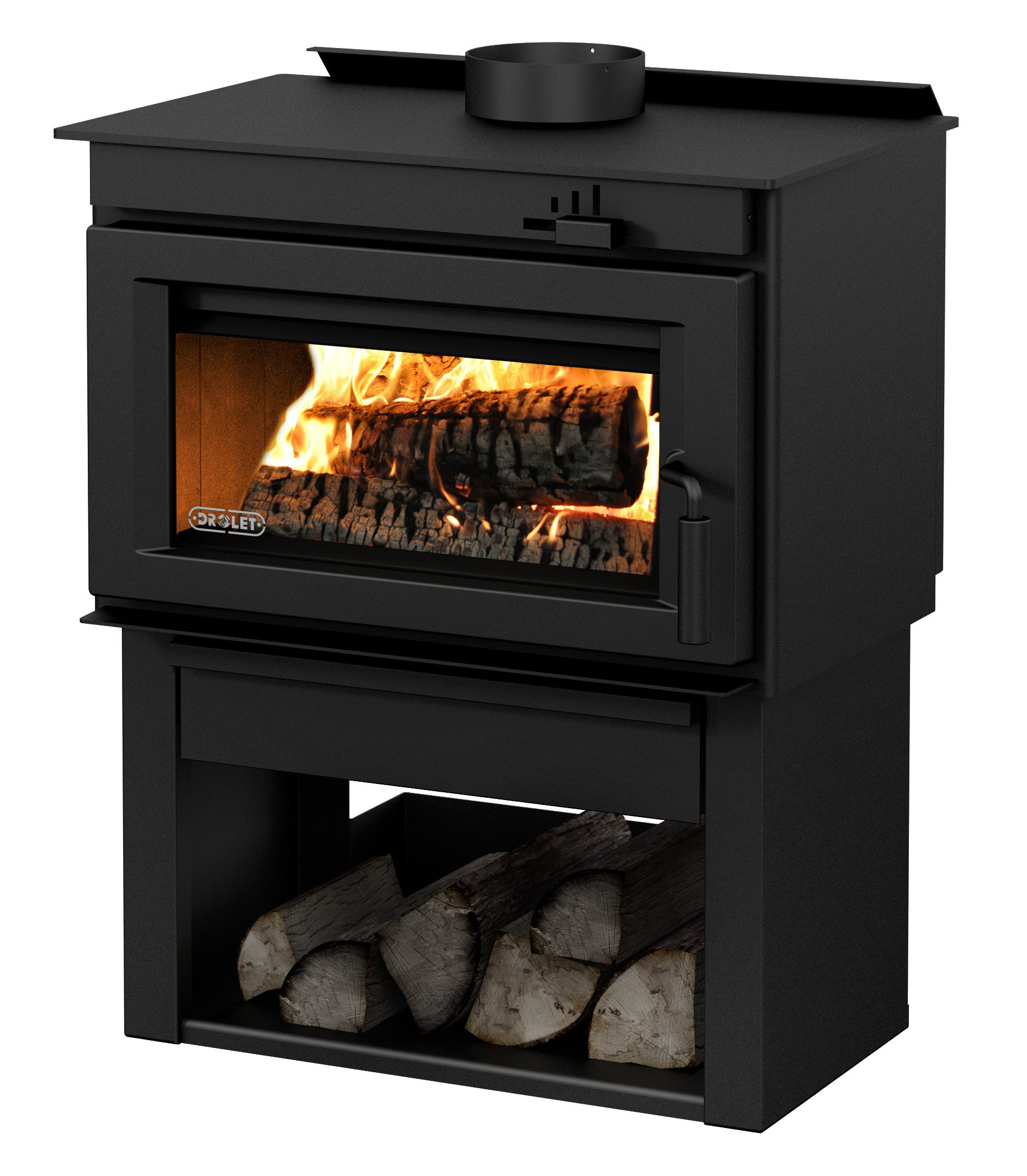 Contemporary Style Wood Stove - Drolet Deco