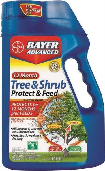 Bayer Advanced 701900B Dual Action Slow-Release Tree and Shrub Feed, 4 lb Can, Yellow to Brown, Granules