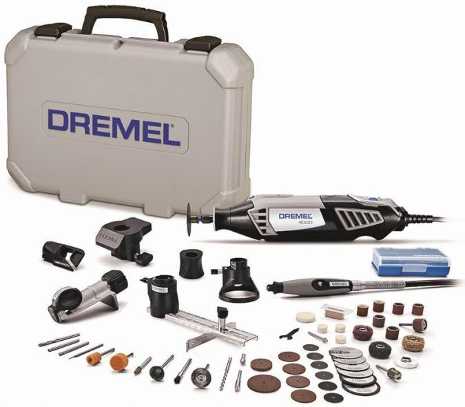 Dremel 4000-6/50 High Performance Corded Rotary Tool Kit, 120 V, 1.6 A, 1/8 in Keyed Chuck