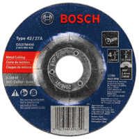 Bosch 326390 Type 27 Depressed Center Grinding Wheel, 4-1/2 in Dia x 3/32 in T, A24R-BF Grit