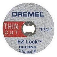 Dremel EZ476 Cut-Off Wheel, 1-1/2 in Dia x 1/32 in T, 1/8 in Arbor
