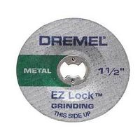 Dremel EZ Lock Grinding Wheel, 1-1/2 in Dia x 0.075 in T