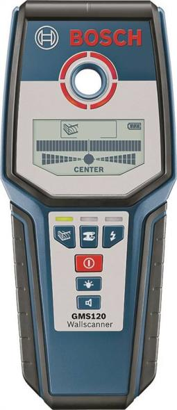 Bosch GMS120 Electric Wall Scanner, 4-3/4 in, Digital, Backlit, LCD