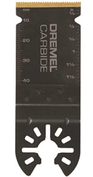 Dremel MM485 Oscillating Flush Cut Blade, Universal, 1-1/2 in L X 1-1/4 in W X 0.05 in T, Black