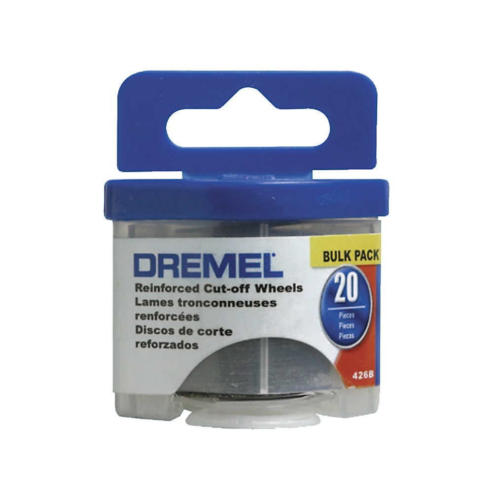 Dremel 426B Reinforced Cut-Off Wheel, 1-1/4 in Dia x 0.045 in T, 1/8 in Arbor