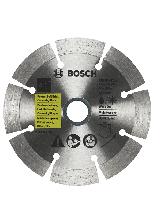 Bosch DB4541S Circular Saw Blade, 4-1/2 in Dia X 0.079 in T, 7/8 in Arbor