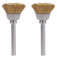 BRUSH BRASS 1/2 INCH 2PK