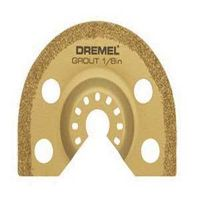Dremel MM500 Grout Removal Blade, 2.67 in L x 2.67 in W x 1/8 in T, Carbide Grit, Gold Metallic