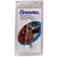 Dremel 193 High Speed Cutter, 5/64 in Dia, 1/8 in Shank, 30000 rpm, High Speed Steel