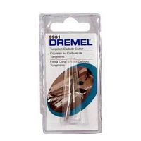 Dremel 9901 High Speed Cutter, 1/8 in Dia, 1/8 in Shank, 30000 rpm, High Speed Steel