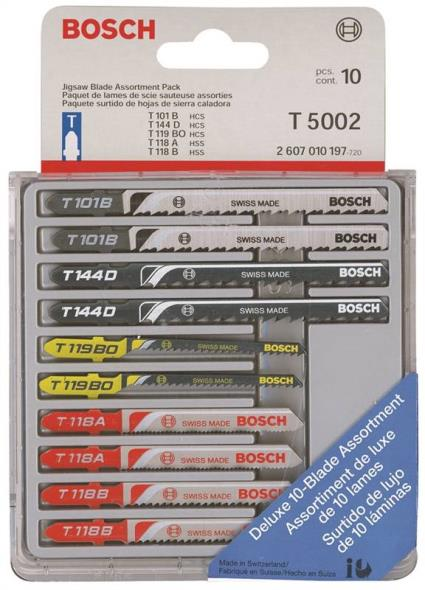 T-SHANK JIGSAW BLADE ASSORTED 10PK