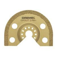 Dremel MM501 Grout Removal Blade, 2.67 in L x 2.67 in W x 1/16 in T, Carbide Grit, Gold Metallic