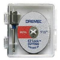 Dremel EZ Lock Mandrel Starter Kit, 6 Pieces, 1-1/2 in Dia X 1/32 in T