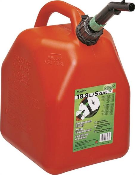 Scepter 5096 Jerry Gas Can, 5 gal, 14.08 in H, Self-Venting, Polyethylene, Red