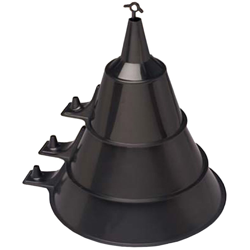 FUNNEL ASSORTMENT BLK 3PK