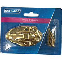 Schlage C9330F3 Heavy Duty Draw Catch, Steel, Bright Brass