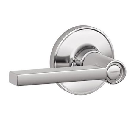 (Open Box)SCHLAGE� SOLSTICE PRIVACY LEVER, POLISHED CHROME