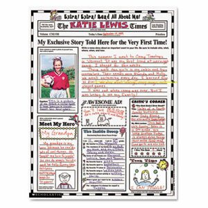 """Instant Personal Poster Sets, Extra Extra Read All About Me, 17"""" x 22"""", 30/Pack"""