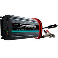 Schumacher PI-750 Power Inverter, 12 VDC Input, 115 VAC Output, 750 W, 2 Outlets