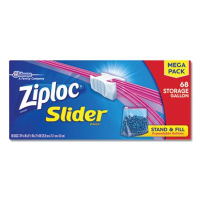 "Slider Storage Bags, 1 gal, 9.5"" x 10.56"", Clear, 9/Carton"