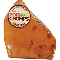Pork Chomps DT508 Roasted Pork Ears, 1 Count, Natural