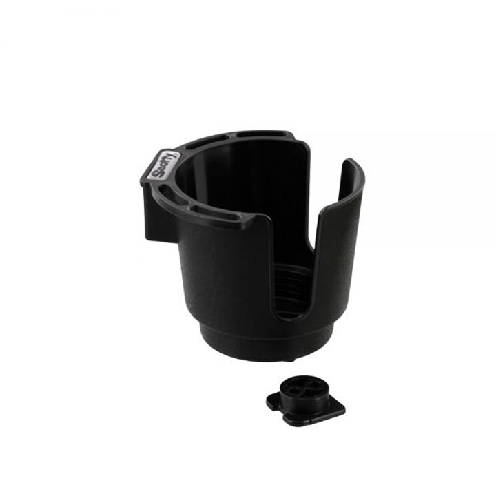 Scotty Cup Holder with Bulkhead/Gunnel Mount Black