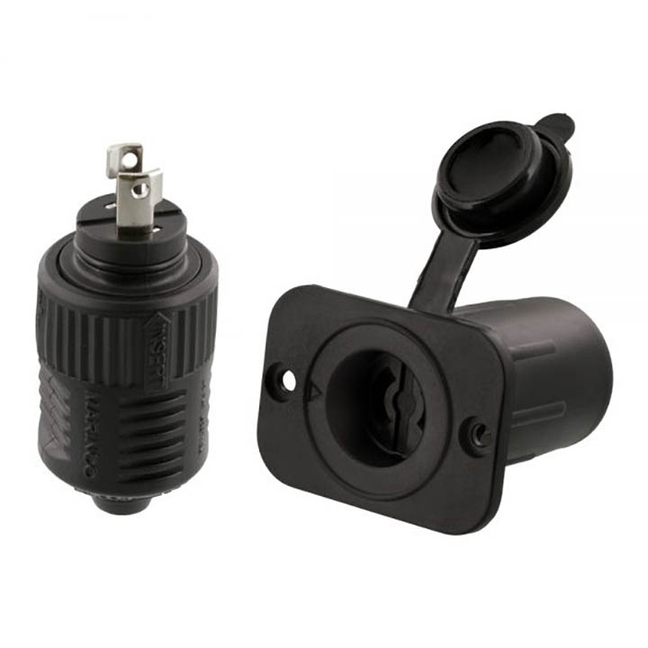 Scotty 12V Downrigger Plug and Receptacle from Marinco-�