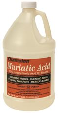 MURIATIC ACID, 1 GALLON, 4 PER CASE