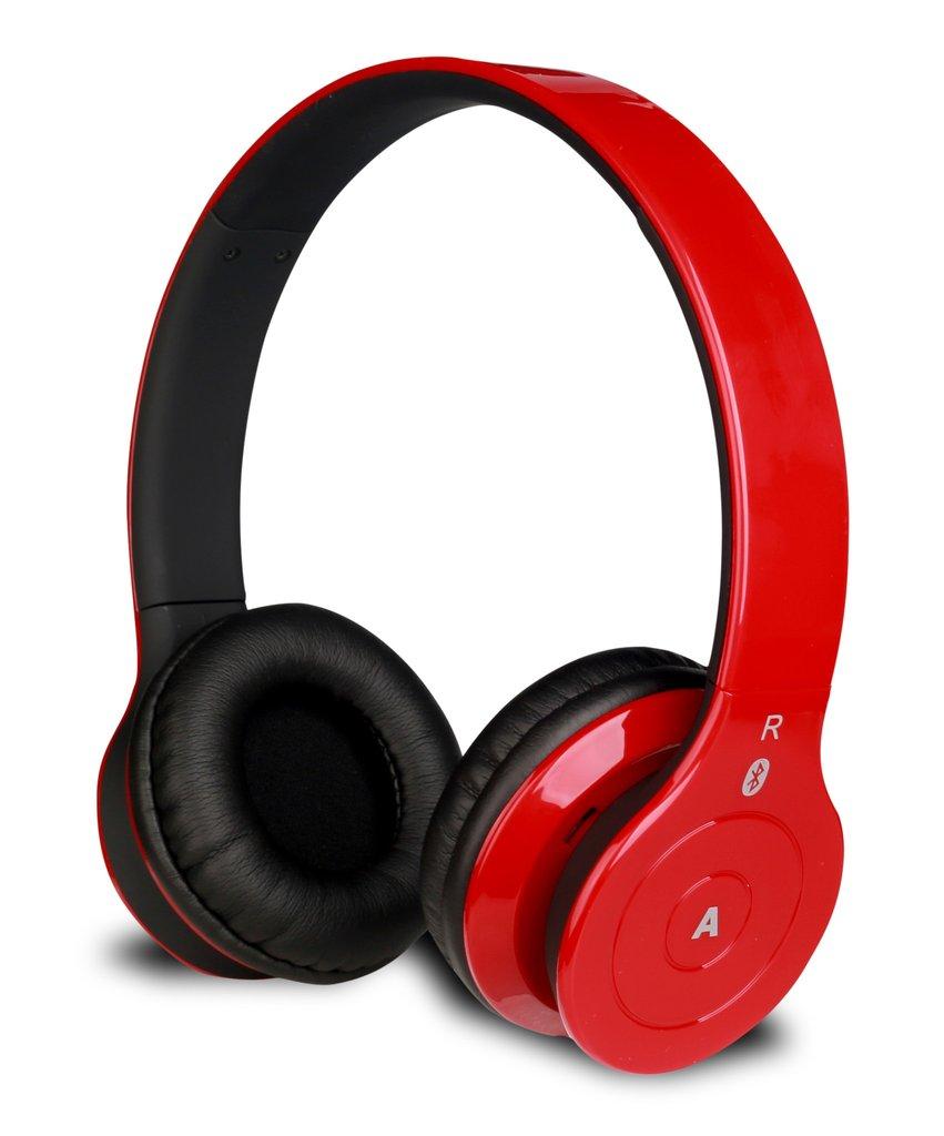ALPHA DIGITAL BH-530-R RED BLUETOOTH HEADPHONE WITH MICROPHON
