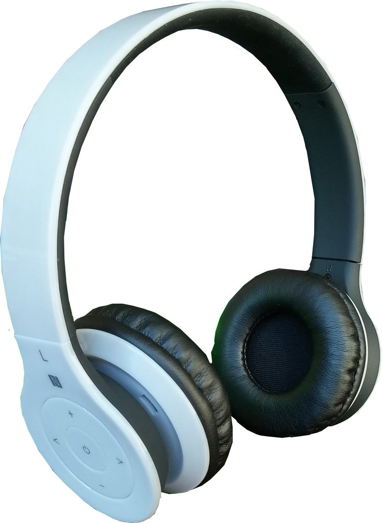 ALPHA DIGITAL BH-530-W WHITE BLUETOOTH HEADPHONE WITH BUILTIN