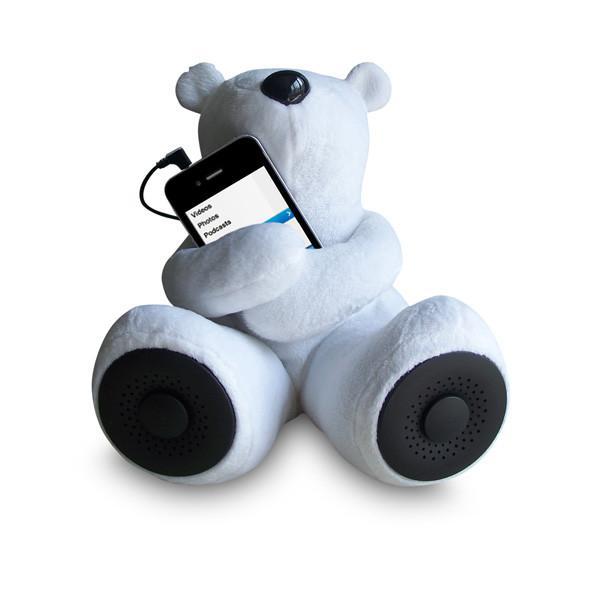 ALPHA DIGITAL S-T1-W WHITE PORTABLE TEDDY SPEAKER FOR IPOD