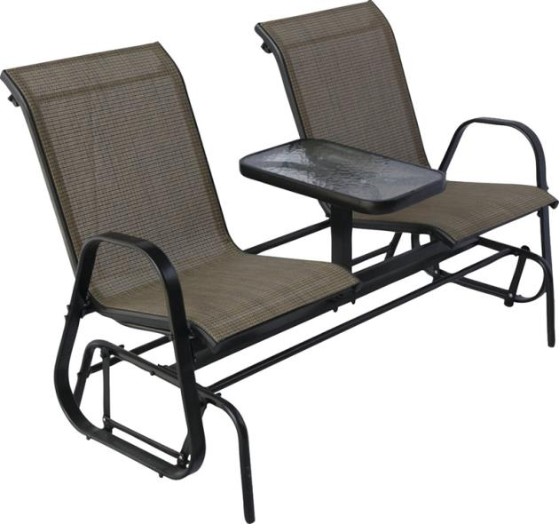 Westfield S95-S1384K Double Glider With Console, HardWood, Steel Frame, Natural, Powder-Coated