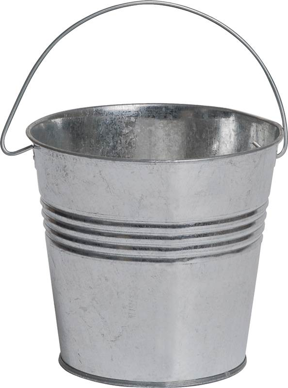 CANDLE BUCKET GALVANIZED 5IN