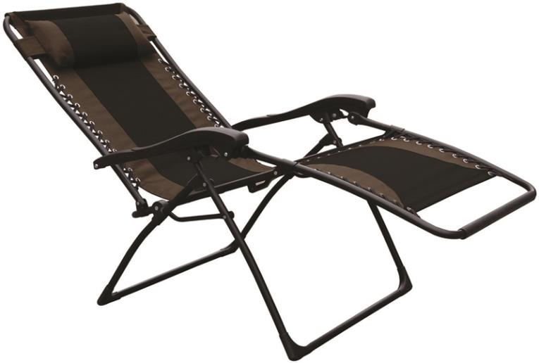 Seasonal Trends F4341OXBKOX30/64 Chair Essentials Patio Chair, Extra Large, Black/Tan