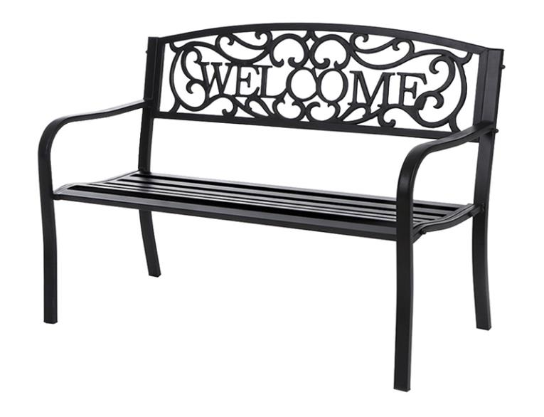 "BENCH ""WELCOME"" METAL 38 LB"