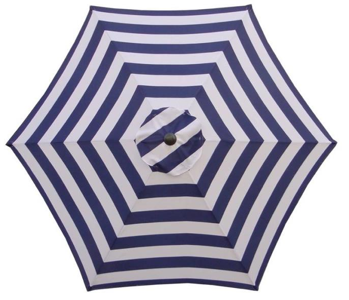 UMBRELLA MARKET 9FT NAVY/WHITE