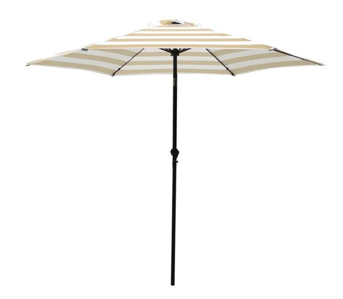UMBRELLA MARKET 9FT TAUPE/WHT