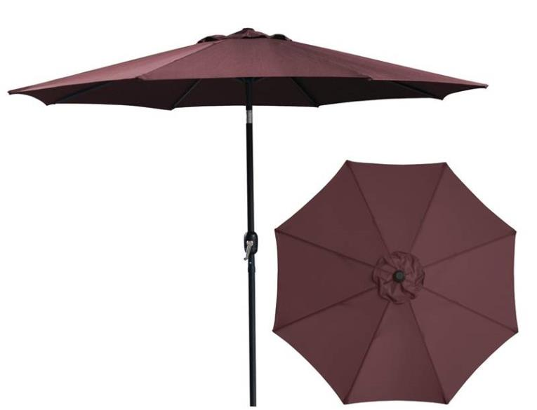 UMBRELLA MARKET 9FT BURGUNDY