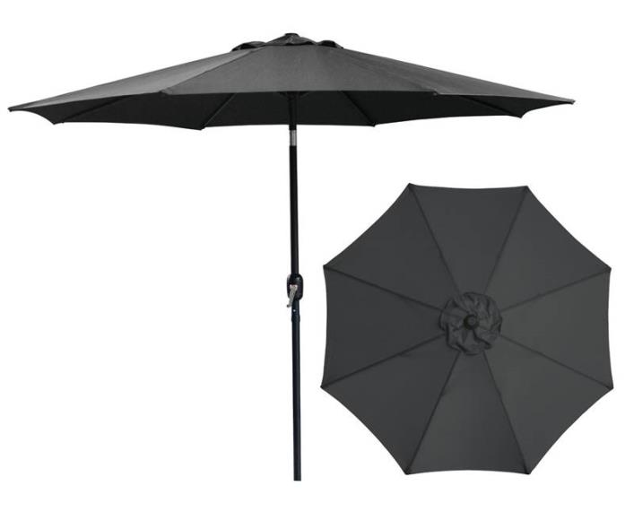UMBRELLA MARKET STL 9FT BLACK
