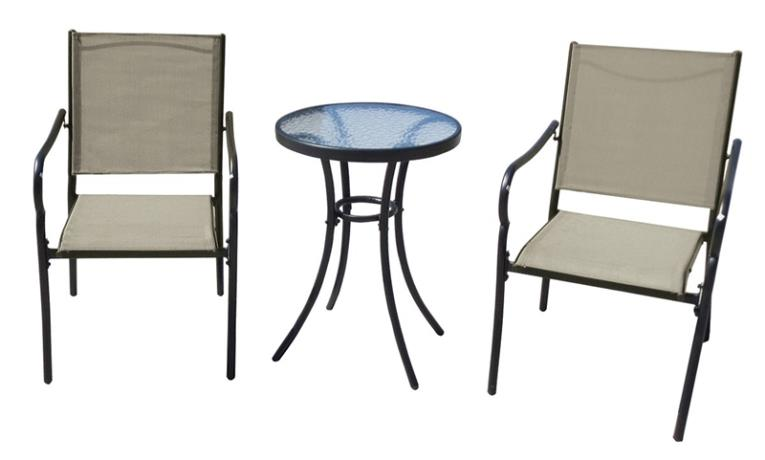 PATIO BISTRO SET 3PC POPLAR