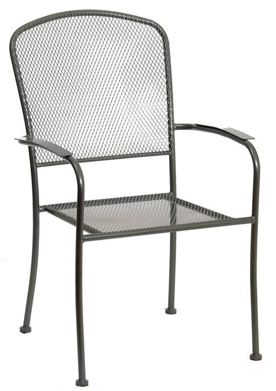 CHAIR PATIO STL MSH ARLGTN BLK