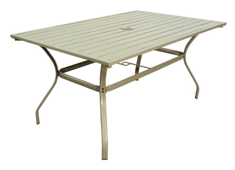 TABLE SLAT STL 38X60IN SOLARIS