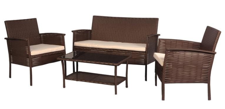 ASHEVILLE CHAT SET WICKER 4 PC
