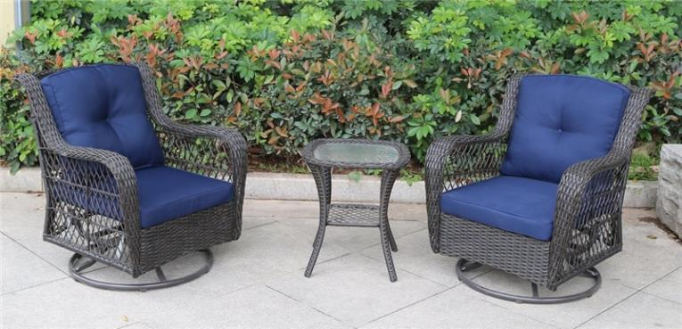 GLIDER SET SWIVEL 3PC MELROSE