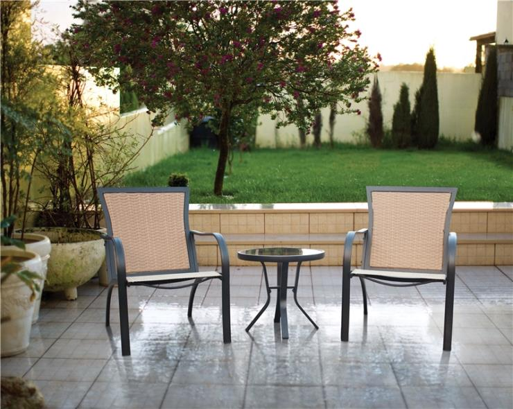 BISTRO SET RICHMOND WOVEN